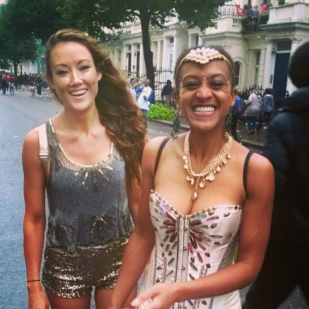 Helen Boast and Ayesha Casely-Hayford Notting Hill Carnival 2015
