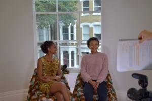Ayesha Casely-Hayford and India Ria Amarteifio