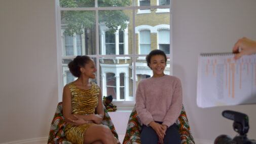 Ayesha Casely-Hayford and India Ria Amarteifio