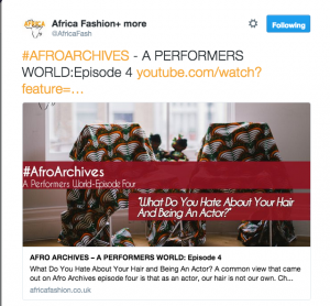 Ayesha Casely-Hayford with Africa Fashion