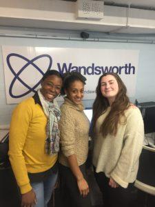 Nicolette Wilson-Clarke, Ayesha Casely-Hayford and Chloe De Save