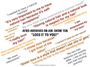 Locs It To You? views from Afro Archives On Air Show 10