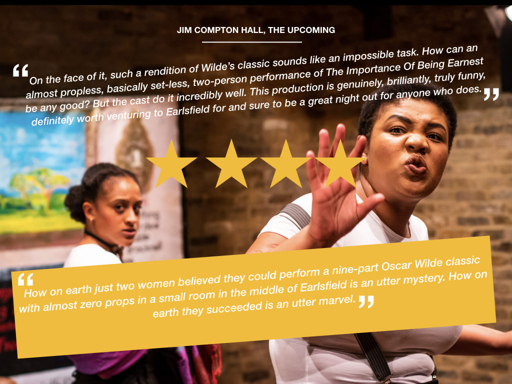 A review by Jim Compton-Hall for The Upcoming of The Importance Of Being Earnest